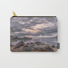 Cloudy beach sunset Carry-All Pouch