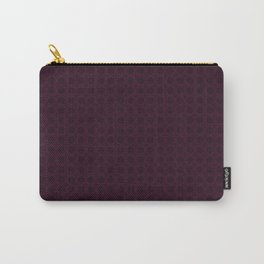Dark Merlot Wine Circle Pattern Carry-All Pouch