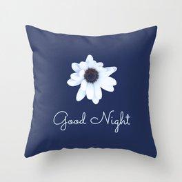 Good Night, Sleepy African Daisy Flower Throw Pillow