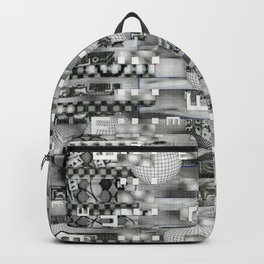 Atomic Bokeh (P/D3 Glitch Collage Studies) Backpack