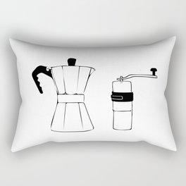 Coffee Tools: Moka Pot & Coffee Grinder Rectangular Pillow