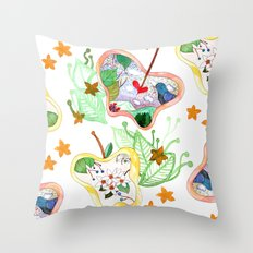 From apple land Throw Pillow