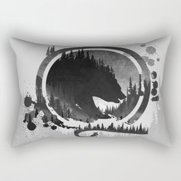 Bear and Fox In The Mountains Rectangular Pillow