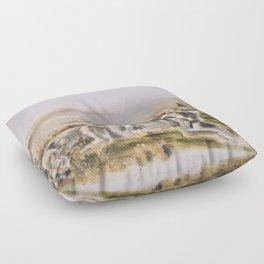Totem wolf (Sunset) Floor Pillow