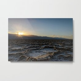 DEATH VALLEY SUNSET PHOTO -  CALIFORNIA IMAGE - NATIONAL PARK  PICTURE - LANDSCAPE PHOTOGRAPHY Metal Print