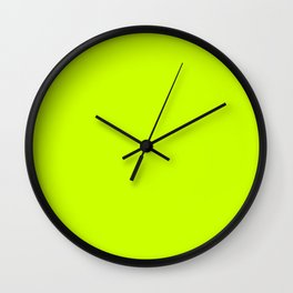 Bright green lime neon color Wall Clock