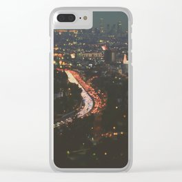 L.A. Skyline. Stardust Clear iPhone Case