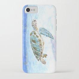 Sea turtle underwater iPhone Case