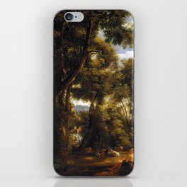 John Constable Landscape with Goatherd and Goats iPhone Skin