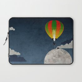 Picnic in a Balloon on the Moon Laptop Sleeve
