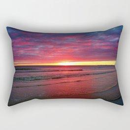 Moonstone Beach, Rhode Island Blood Red Sunset Rectangular Pillow