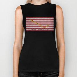 First Navy Jack flag of the USA, vintage Biker Tank