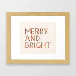 Merry and Bright Light Framed Art Print