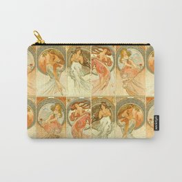 "Alphonse Mucha ""The Arts: Music, Poetry, Painting, Dance (series)"" Carry-All Pouch"