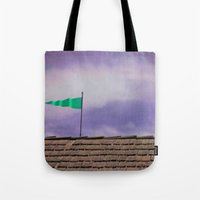 flag Tote Bags featuring Flag by Maite Pons