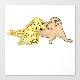 Cheetah Thinks Dog Is Sexy Funny Gift Canvas Print