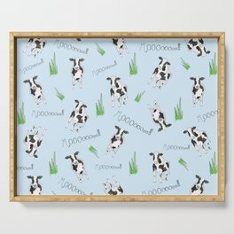 The Cow Print Pattern Serving Tray