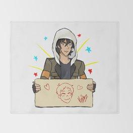 Klance, Keith draws Lance Throw Blanket