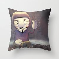 anonymous Throw Pillows featuring anonymous by Emilio Rizzo