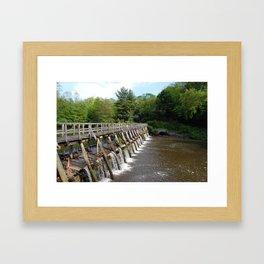 Walking Bridge, Philipsburg Manor, Sleepy Hollow NY Framed Art Print