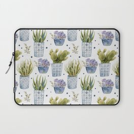 cactus in patterned pots pattern Laptop Sleeve