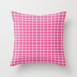 Squares of Pink Throw Pillow