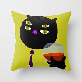 Quatre Ulls B Throw Pillow
