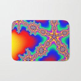 Colorful Fractal #2 (Star) Bath Mat