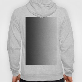 Black to White Vertical Linear Gradient Hoody