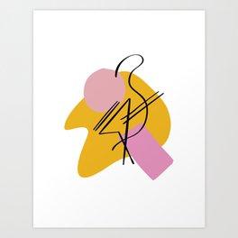 Flamin go Art Print