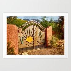 Sunny Gate Art Print
