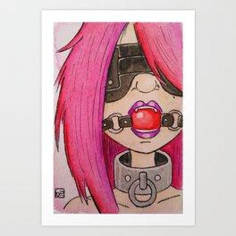 Ballgagged 2 Art Print