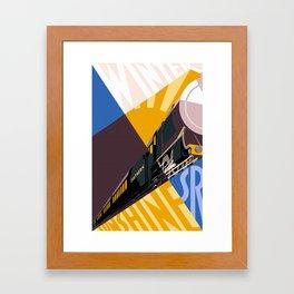 Travel South for Winter Sunshine Framed Art Print