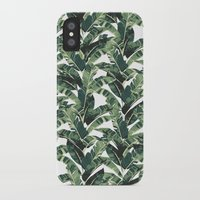 banana leaf iPhone & iPod Cases featuring BANANA LEAF by bows & arrows