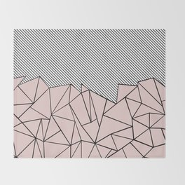Ab Lines 45 Dogwood Throw Blanket