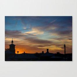 Sunset Train Station Canvas Print