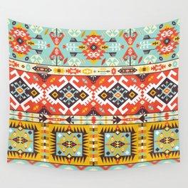 Modern Native American Pattern 4 Wall Tapestry