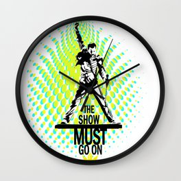 Freddie the Show Must Go On Wall Clock