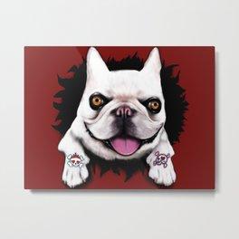 Bulldog Tattoo Metal Print