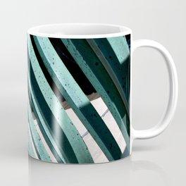Turquoise Green Abstract Metal Gate Photograph Coffee Mug