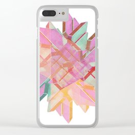 Technical Snowflake Clear iPhone Case