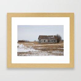 Old Prairie Farm Framed Art Print
