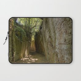 Excavated Etruscan Roads Laptop Sleeve