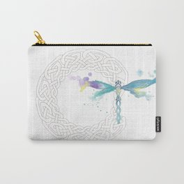 Celtic Knot Dragonfly Carry-All Pouch