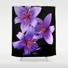 Beautiful Blue Ant Lilies, Flowers Scanography Shower Curtain