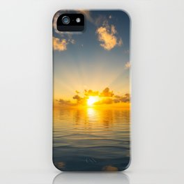 Peaceful sunset over the ocean iPhone Case