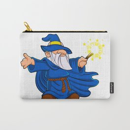 Blue wizard cartoon Carry-All Pouch