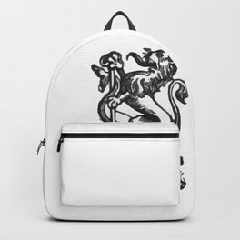 Anchor and rampant lion. Backpack