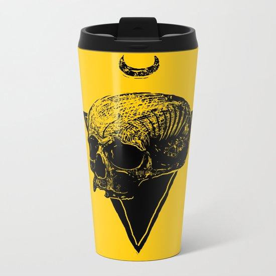 skull2 Metal Travel Mug