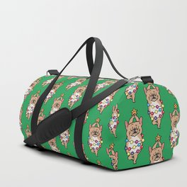 French Bulldog Merry Christmas Duffle Bag